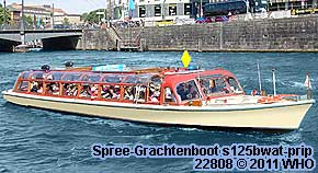 Spree-Grachtenboot s125bwat-prip Berlin Schiff Boot